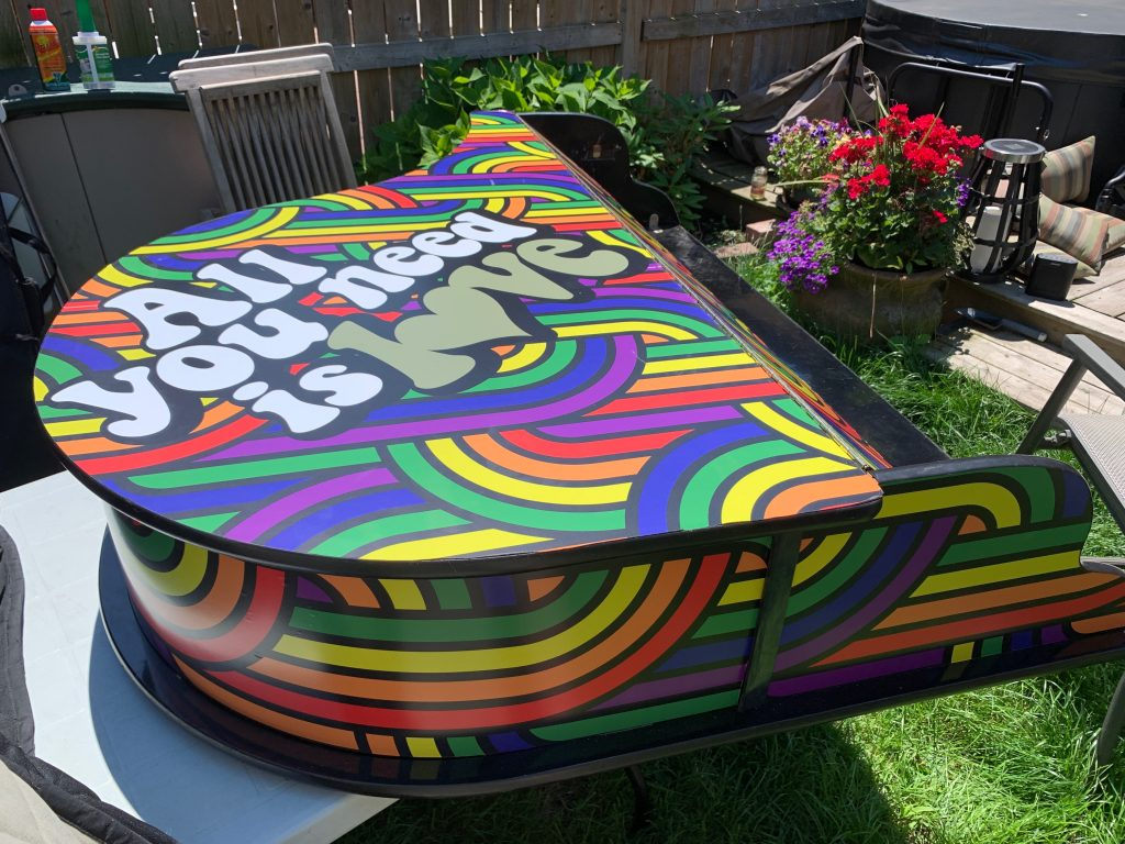 Custom Piano Wrapping All You Need Is Love